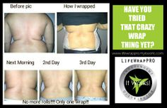 Get rid of your back fat!  Our skinny wraps are PERFECT for reducing hard-to-lose back fat.  What are you waiting for???