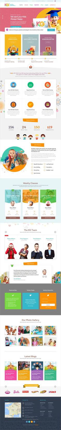 Clean and modern design responsive #bootstrap template for #kindergarten, #preschool, elementary #school or daycare institutions website download now..