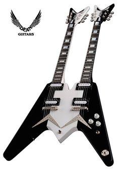 Dean USA Michael Schenker Double Neck Guitar Pins, Guitar Art, Cool Guitar, Acoustic Guitar, Ufo, Dean Guitars, Guitar Musical Instrument, Guitar Design, Custom Guitars
