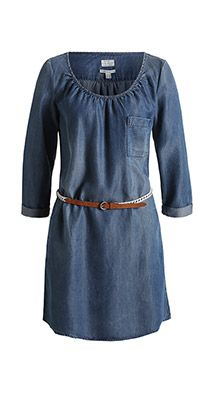 Robe fluide au look denim