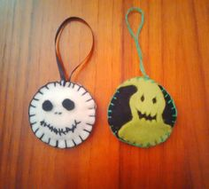 Nightmare Before Christmas tree decorations.