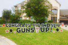 TEXAS TECH BOUND!!! Congrats Lindsey! Guns Up! Graduation Yard Signs, Lawn Sign, Texas Tech, Grad Parties, Yards, Angels, Guns, College, Party Ideas