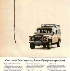 Land Rover classic ad