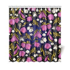 Beautiful Vintage Floral Pattern Shower Curtain 69