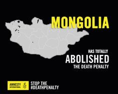 Great news: #Mongolia abolished the #deathpenalty today
