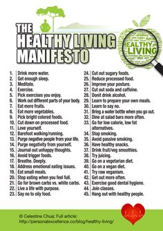 The Healthy Living Manifesto #personal_excellence