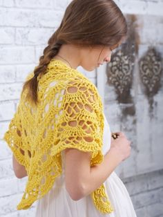 Yes Yes Shawl - Free crochet pattern - just adorable!