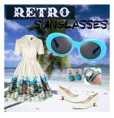 """Vintage Love: Retro Sunglasses"" by miriam-witte ❤ liked on Polyvore featuring Collectif, Pink Paradox London and vintage"