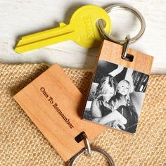 Personalised Photograph Wood Keyring