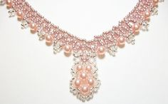 Light Rose Pearl Handcrafted Necklace  $30.50 @KerisKrystals #Bonanza store