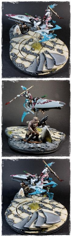 Cultist, Diorama, Eldar, Harlequins, Masque Of The Shattered Mirage, Skyweaver, Warhammer 40,000