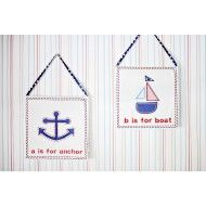 Shop here- $1 of every $5 goes to our charity! Ahoy Mate 2pc Wall Art