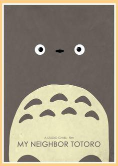 My Neighbor Totoro Alternative Movie Poster by GlanPrints on Etsy