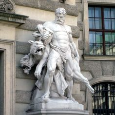 Meet Cerberus, the Hellhound of Greek Mythology Ancient Greek Sculpture, Greek Statues, Ancient Art, Roman Sculpture, Sculpture Art, Atlas Sculpture, Michelangelo, Greek Mythology Art, Mythology Tattoos
