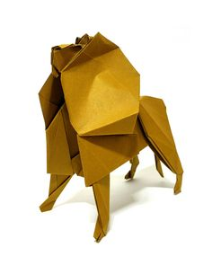 Lion refold Designed by me 7575 tant paper by Jeong Jaeil