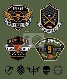 Fotomural Ops especiales conjunto de parches emblema