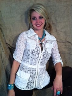 Sophisticated Cowgirl Lace Jacket    www.therhinestoneleopard.com