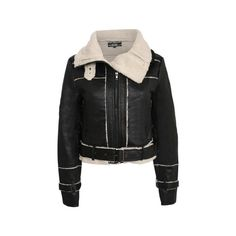 Pilot Kelly Bonded Faux Fur Trim Bomber Long Sleeve Jacket ($36) ❤ liked on Polyvore featuring outerwear, jackets, black, flight jacket, pilot jacket, faux leather jacket, faux leather bomber jacket and black jacket