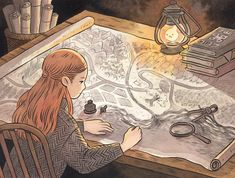 Cartographer Illustration or Sketching also crucial skills Art And Illustration, Illustrations, Kunst Inspo, Art Inspo, Fantasy Kunst, Fantasy Art, Manga Art, Anime Art, Ligne Claire