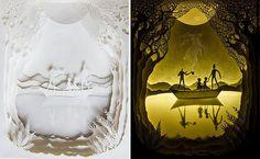 Ils donnent vie aux contes de fées en sculptant dans du papier