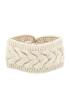Cable Knit Sweater Headband by Free Press on @nordstrom_rack