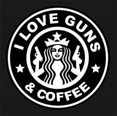 I Love Guns and Coffee Car Window Decal A1   eBay