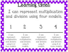 Common Core Third Grade Learning Goals and Scales