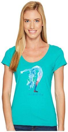 Life is Good - Bend Yoga Smooth Tee Women's T Shirt