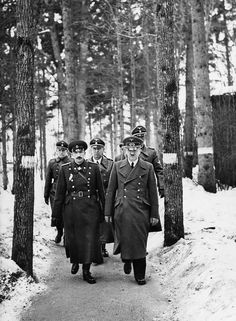 Adolf Hitler and Bulgarian monarch at Fuehrer's Headquarters 'Wolfsschanze' near Rastenburg in East Prussia - 24.03.1942