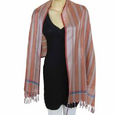 Dresses from India Long Scarf Polyester Viscose blend 20 x 72 Inches