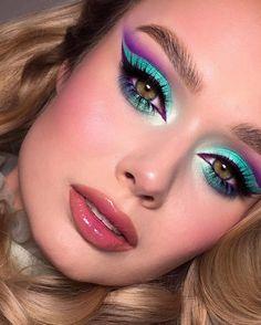 Creative Eye Makeup, Colorful Eye Makeup, Eye Makeup Art, Makeup For Green Eyes, Eyeshadow Makeup, Glamour Makeup, Sexy Makeup, Cute Makeup, Beauty Makeup