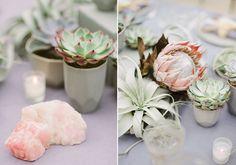 Pastel, succulent wedding inspiration