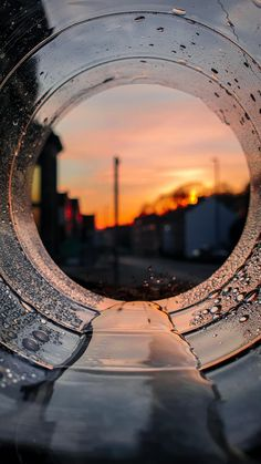 ITAP of sunset through the bottle.