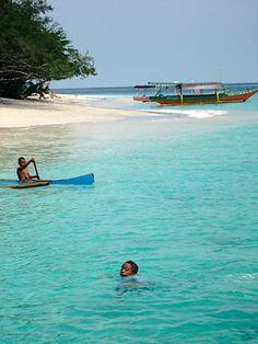 Gili Trawangan, 1 van de drie mooie eilandjes tussen Bali en Lombok.