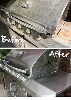 Grill Cleaning Before and After | Unskinny Boppy