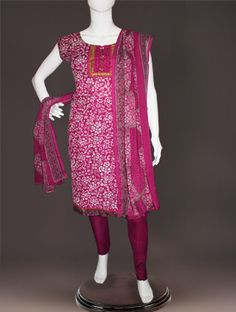 Shop online stylish jaipuri cotton stitched salwar suit at unnatisilks.com Stitched purple color Jaipuri cotton Punjabi suit with dupatta.This kameez has got all over white floral prints and patola weaving along with patch border.And it has printed silk purple salwar with silk chunni.It is apt for trendy and corporate wear. To buy online jaipuri cotton stitched salwar kameez please visit our site http://www.unnatisilks.com/blouse-dupattas-kurtis-online.html