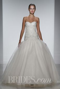 Kenneth Pool Spring 2014 at Solutions Bridal #wedding #dresses. Classic Kenneth Pool shape with beaded bodice and sweetheart neckline.
