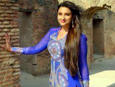 Parineeti Chopra in Blue Dress in Daawat-e-Ishq Movie 2014 - Chinki Pinki Daawat E Ishq, Beautiful Long Hair, Beautiful Women, Movies 2014, Parineeti Chopra, Hair Shows, Bollywood Actress, Blue Dresses, Long Hair Styles