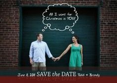 christmas save the date ideas | Christmas card save the date - at the rate i'm going, it will be ...