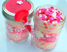 Valentine's Sweet Love Confetti Vanilla Buttercreme Frosting Jar Cakes 4 pack on Etsy, $39.00