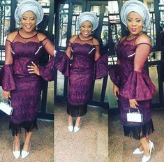 Check Out This Beautiful Lace Gown Style - DeZango Fashion Zone