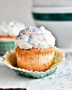 Angel Food Cupcakes   howsweeteats.com
