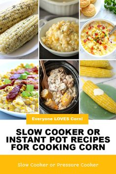 Vegan Slow Cooker, Slow Cooker Recipes, How To Cook Corn, Cooking Corn, Corn On Cob, Instant Pot, Side Dishes, Vegan Recipes, Vegetarian