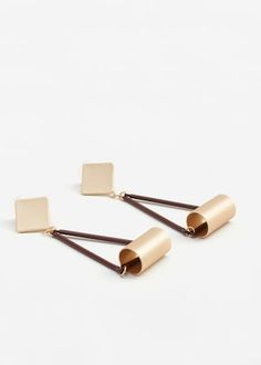 Geometric earrings -  Woman | MANGO United Kingdom