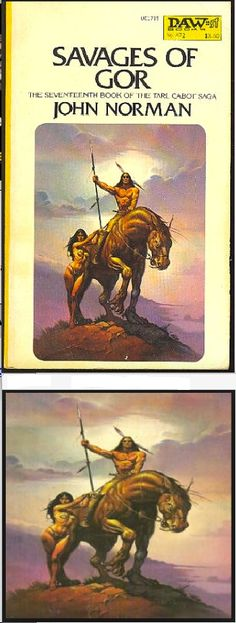 KEN KELLY - Savages of Gor by John Norman - 1982 DAW Books