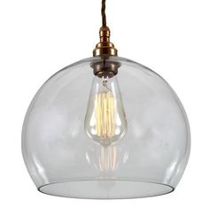 Designed to showcase the warmth of Edison-style bulbs, the Eden Clear Sphere Pendant will add a touch of unique style to your home. This glass pendant light will add a fresh, clean look to kitchens or dining areas. Unique Lighting, Vintage Lighting, Decorative Lighting, Decorative Glass, Lighting Ideas, Cage, Bathroom Pendant Lighting, Globe Pendant Light, Pendant Lights