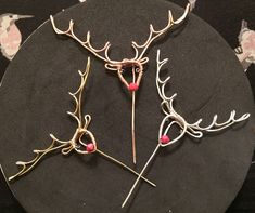 I made these gorgeous little Rudolph pins in copper, gold or silver, for Xmas this year and they sold really well!