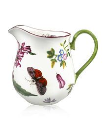 Chelsea Porcelain Cream Jug- lovely botanical print