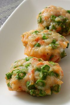 Prawn Fritters with Long Beans