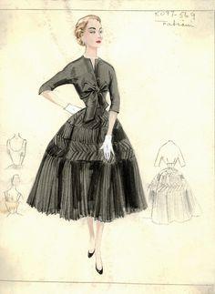 Bergdorf Goodman Archives. Cocktail & Evening Dresses 1950-69